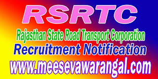 RSRTC (Rajasthan State Road Transport Corporation) Recruitment Notification