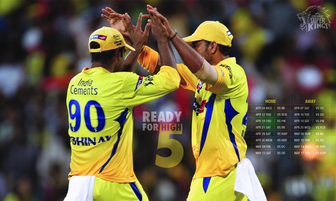 Prince Downloads: Chennai Superkings IPL5 Schedule