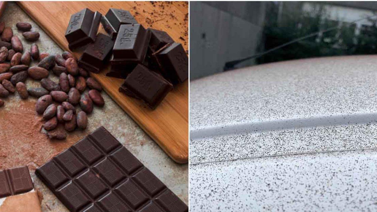 Lluvia de chocolate