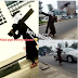 Man Carries Cross In V.I, Lagos To Apologise To Jesus For Sinning Against Him (VIDEO)