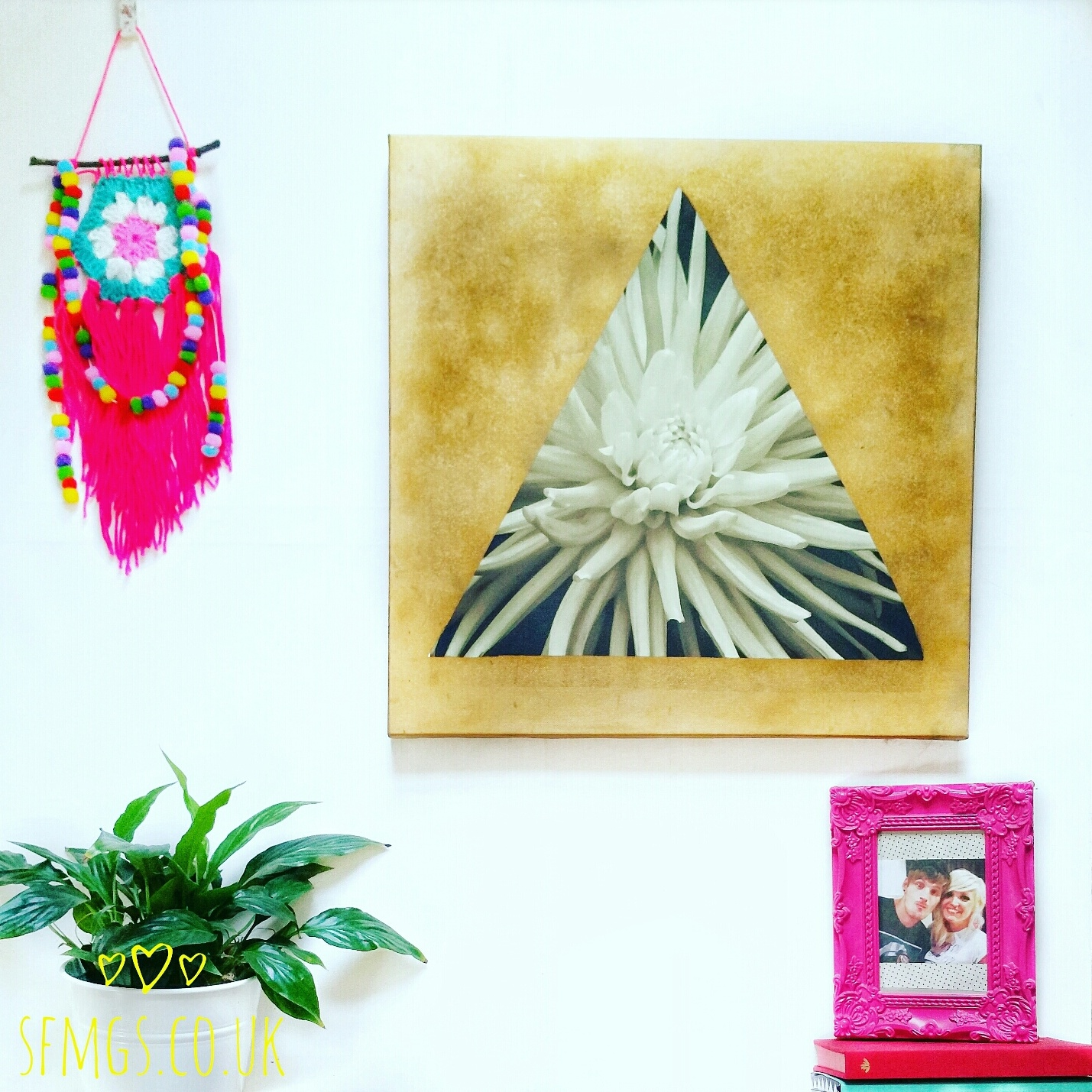 wall art painting upcycle recycle diy tutorial boho home