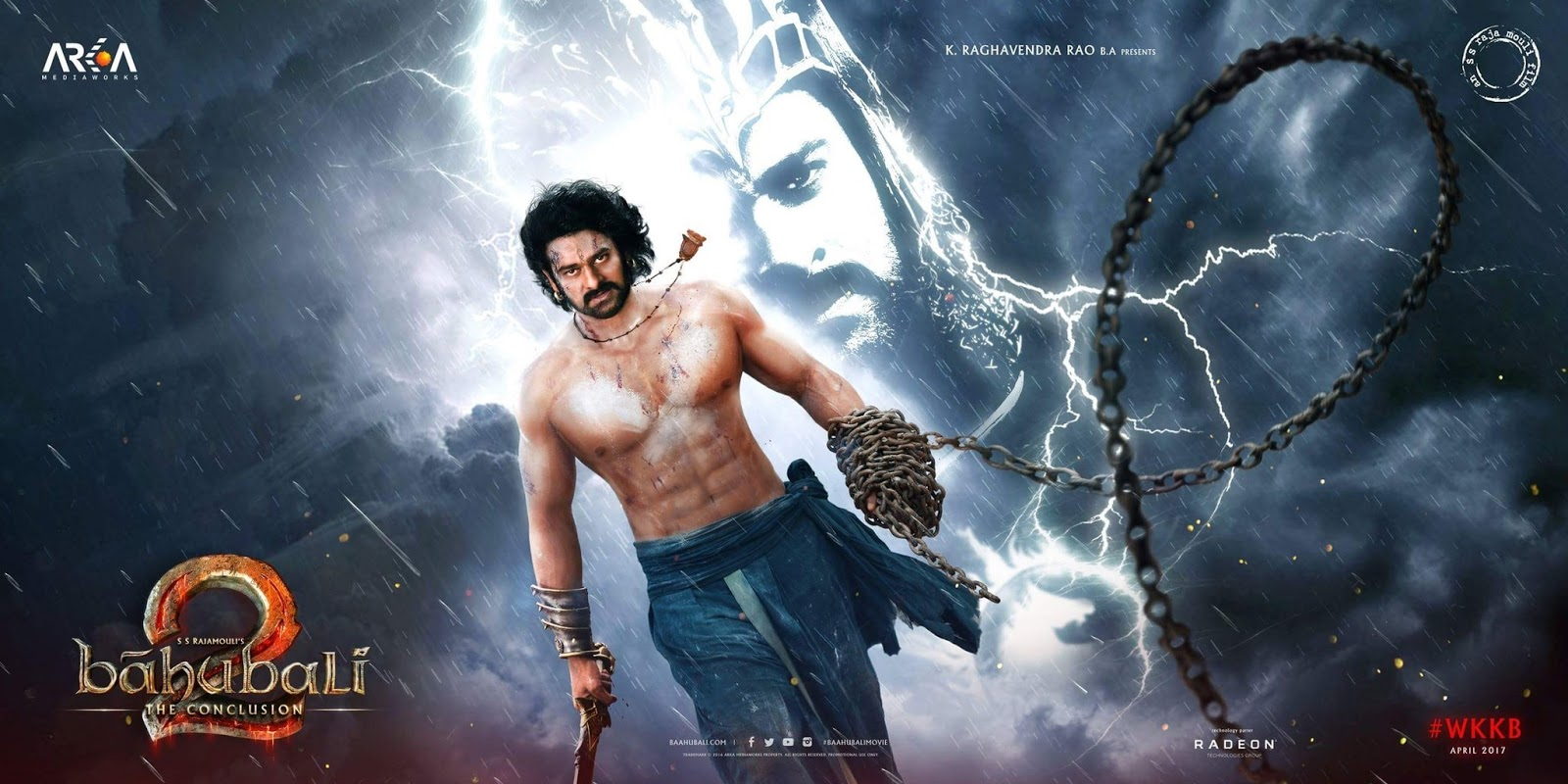 Complete cast and crew of Baahubali: The Conclusion (2017) bollywood hindi movie wiki, poster, Trailer, music list - Prabhas and Anushka Shetty, Movie release date 28 April 2017