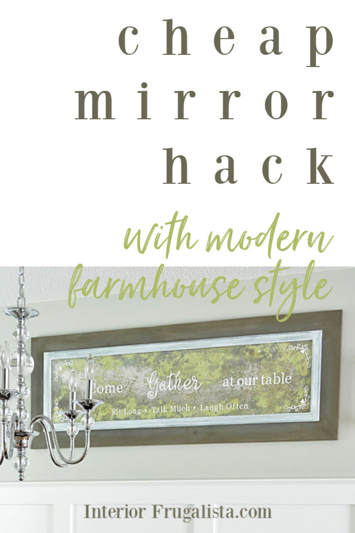 Cheap Mirror Hack With Modern Farmhouse Style