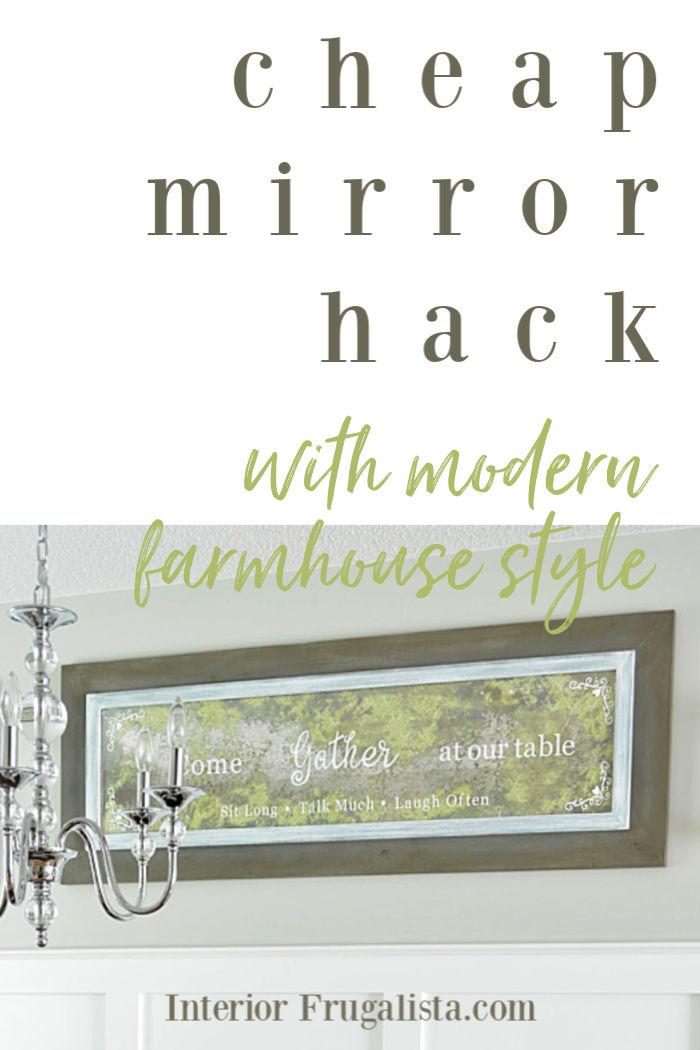 Cheap Mirror Hack With Modern Farmhouse Style