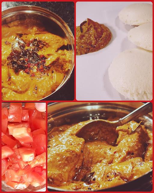 Instant Pot Spicy Tomato Chutney | Red chutney for idli or dosa
