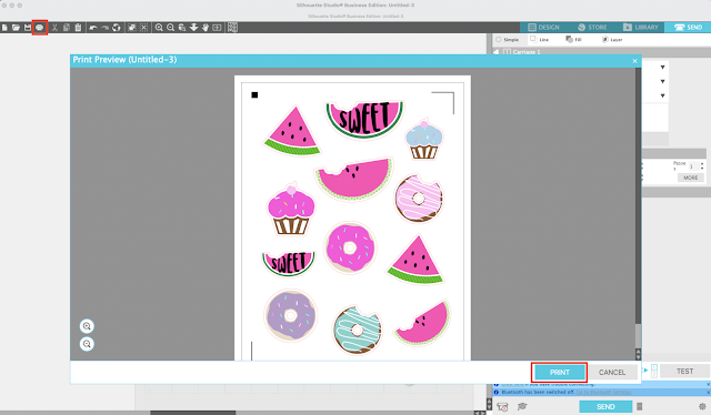 stickers, cameo 4, print and cut, sticker paper, silhouette CAMEO beginners