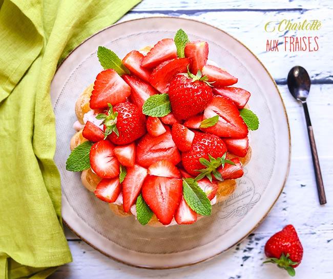 charlotte aux fraises facile et rapide