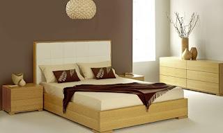 Cortinas roller en dormitorio moderno