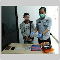 Ditengah Waspada Covid19, Remaja Asal Prapen Loteng Ini Diringkus Karena Terima Paket Ganja