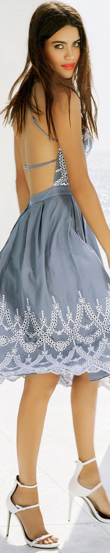 Kendall + Kylie Halter-Neck Eyelet Dress, Tempest