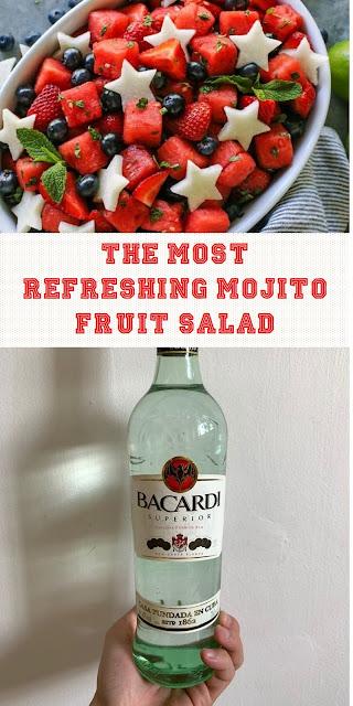 THE MOST REFRESHING MOJITO FRUIT SALAD