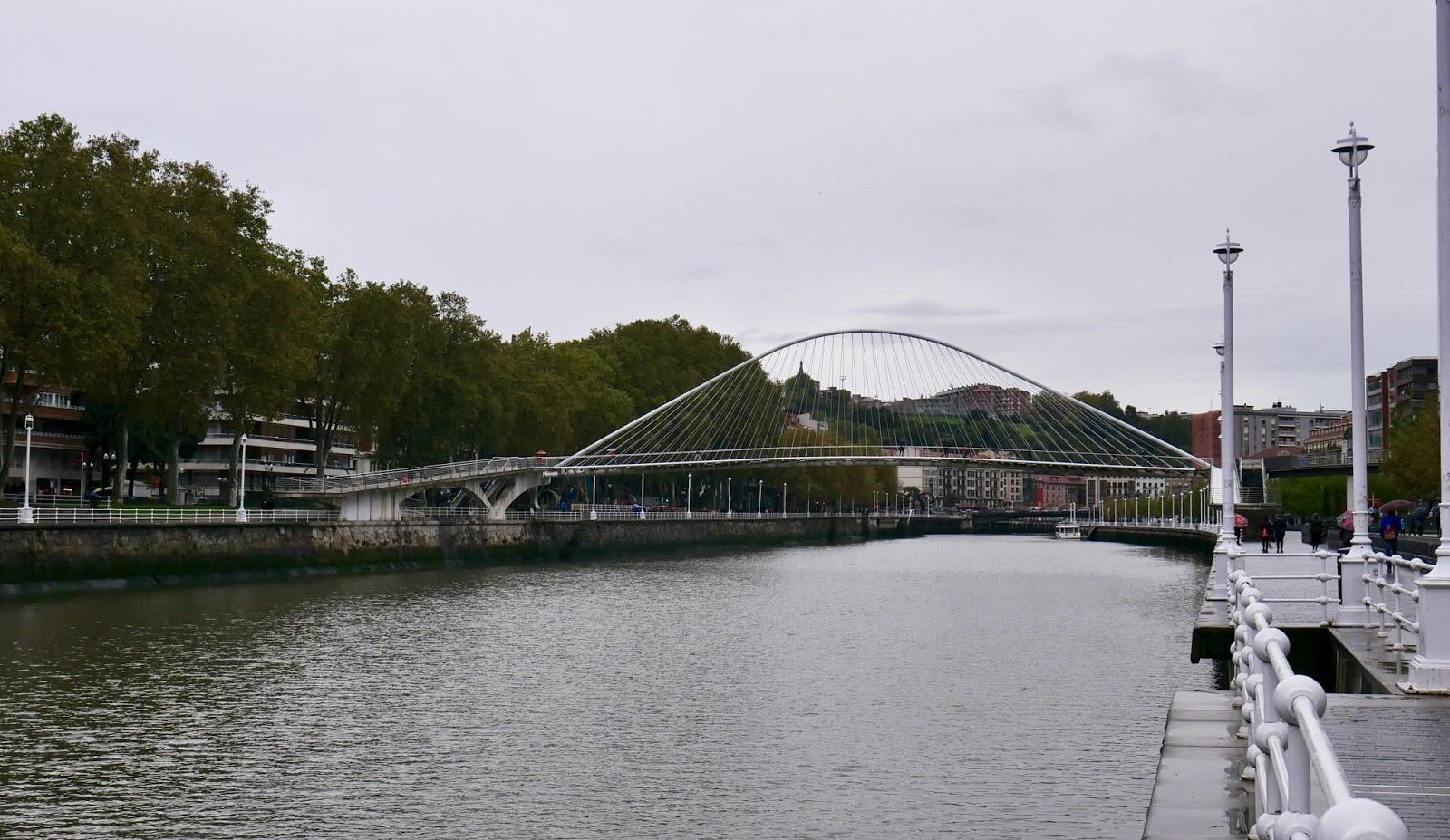 Pont Zubizuri et Ria de Bilbao Pays Basque Espagne