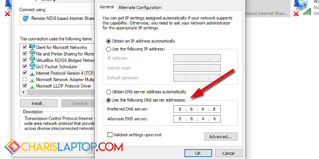 Tutorial Mengatasi Server DNS Address Could Not Be Found