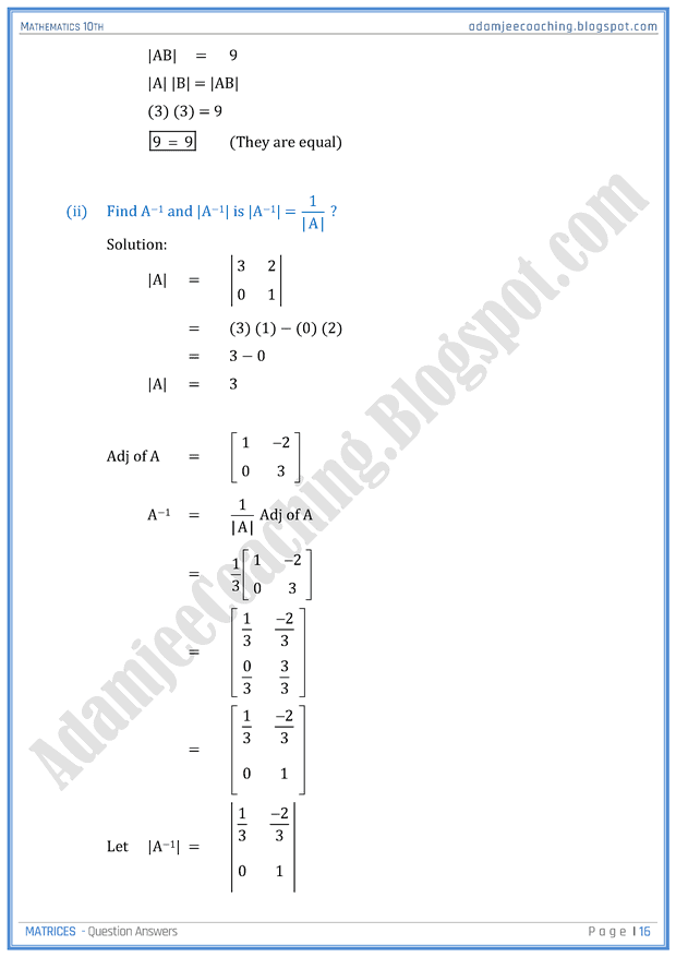 matrices-question-answers-mathematics-10th