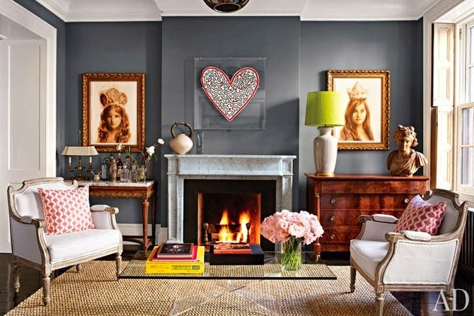 Stephanie Kraus Designs Blue And White Living Room A: Stephanie Kraus Designs: Dark Grey Walls And How To Create