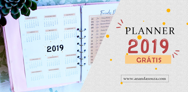 Planner 2019 download Ananda Souza