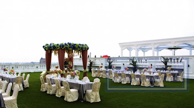 pernikahan outdoor atau luar ruangan di hotel adimulia medan