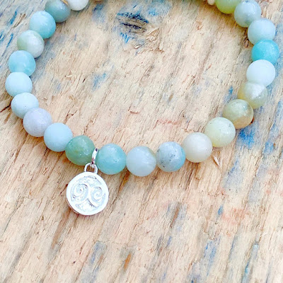 my midlife fashion, the sea tree company calming amazonite gemstone bracelet
