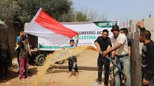 ACT Distribusikan Paket Pangan di Wilayah Pembangunan Sumur Wakaf Ureung Aceh di Palestina