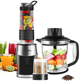 Smoothie Blender, Fochea 3 In 1 Food Processor Multi-Function Kitchen Mixer System