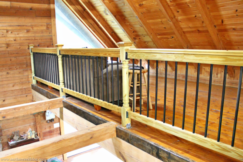 loft & stair railing   On The Creek Blog // www.onthecreekblog.com