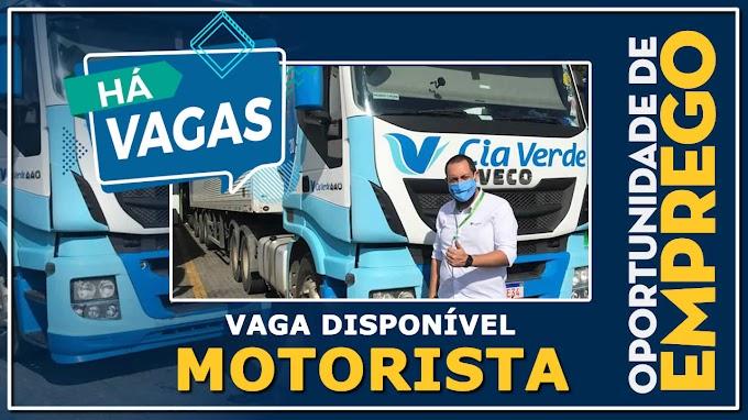 Transportadora Cia Verde abre novas vagas para Motorista Carreteiro