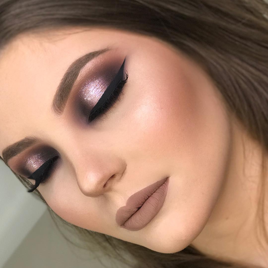 Maquiagem marrom ocasional, noiva, festa ou eventos
