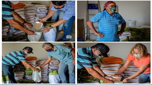 Em Malta, secretaria de agricultura em parceria com a EMPAER distribuiram sementes para agricultores do município.