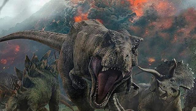 صورة تخيلية للديناصورات لحظة الكارثة