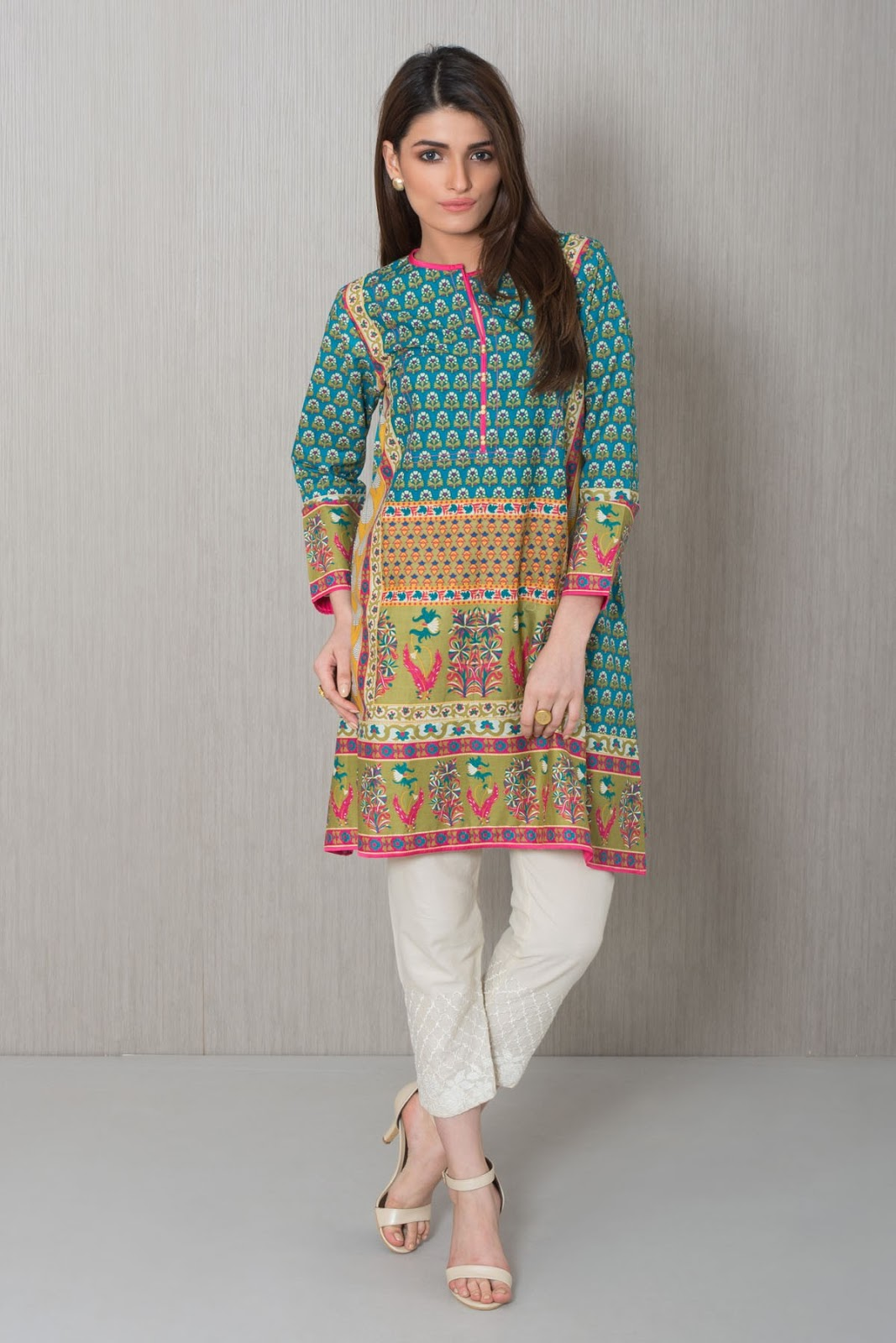 kurta khaadi collection pret embroidery embroidered floral ladies designs quotes