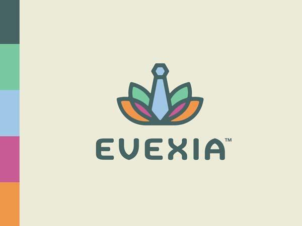 Inspirasi Desain Logo Monoline 2017 - Evexia Corporate Wellness