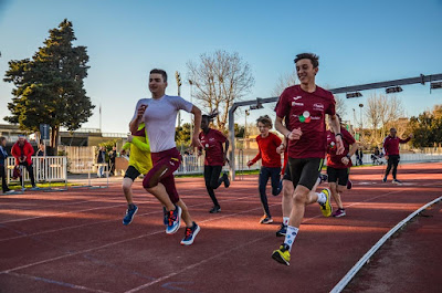 triathlon training athletic running track Livorno Tuscany Italy