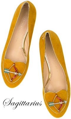 Charlotte Olympia Sagittarius Suede Flats Cosmic Collection