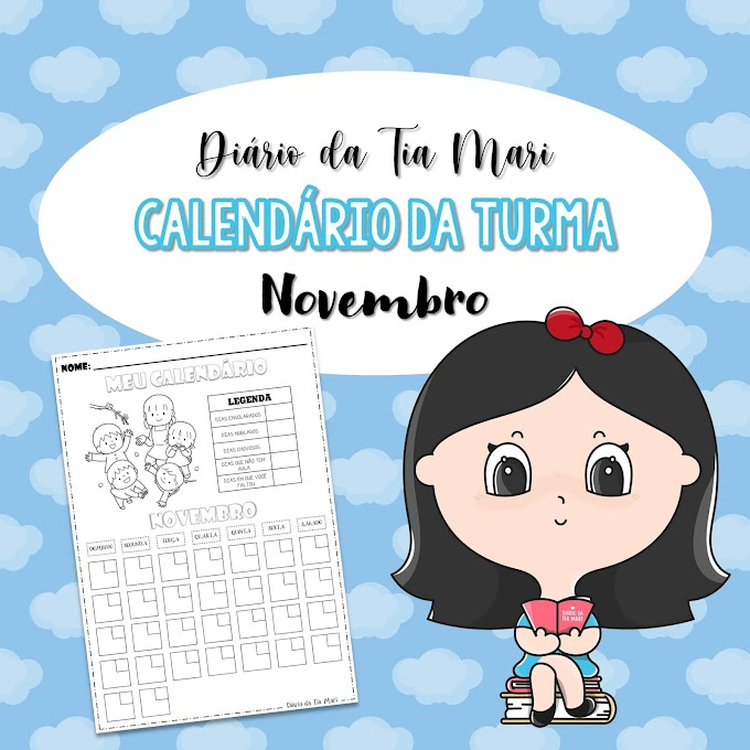 Calendário da Turma - Novembro/2020