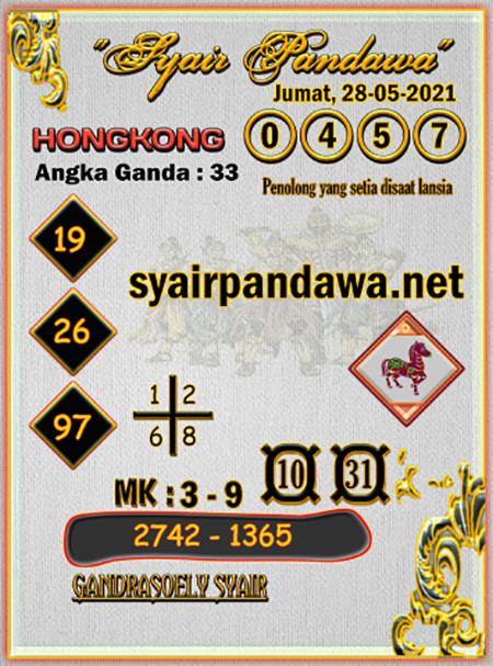 Syair Pandawa HK Jumat 28-05-2021