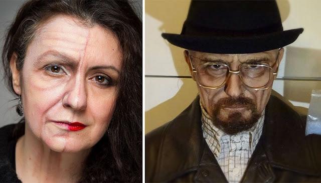 Artista del maquillaje se transforma en varias celebridades
