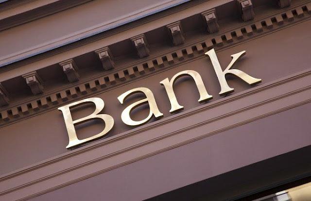 Bank written on a board
