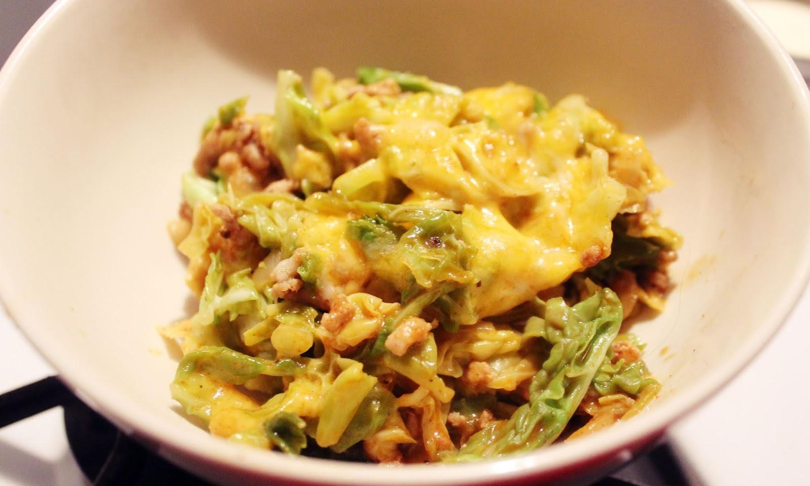 One pot Enchilada Cabbage casserole