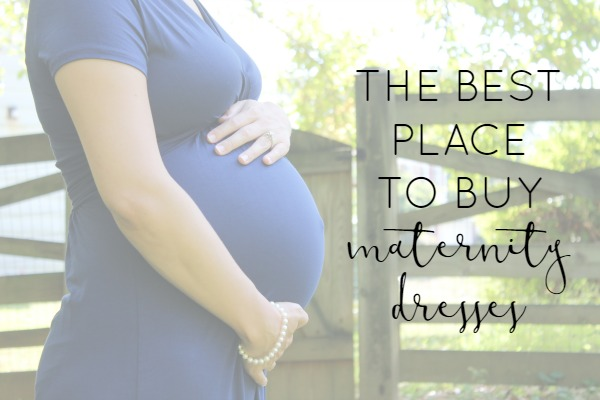 Wondering where the best places to buy maternity clothes are? Dresses are super comfy during pregnancy. This is my favorite place to buy maternity dresses!