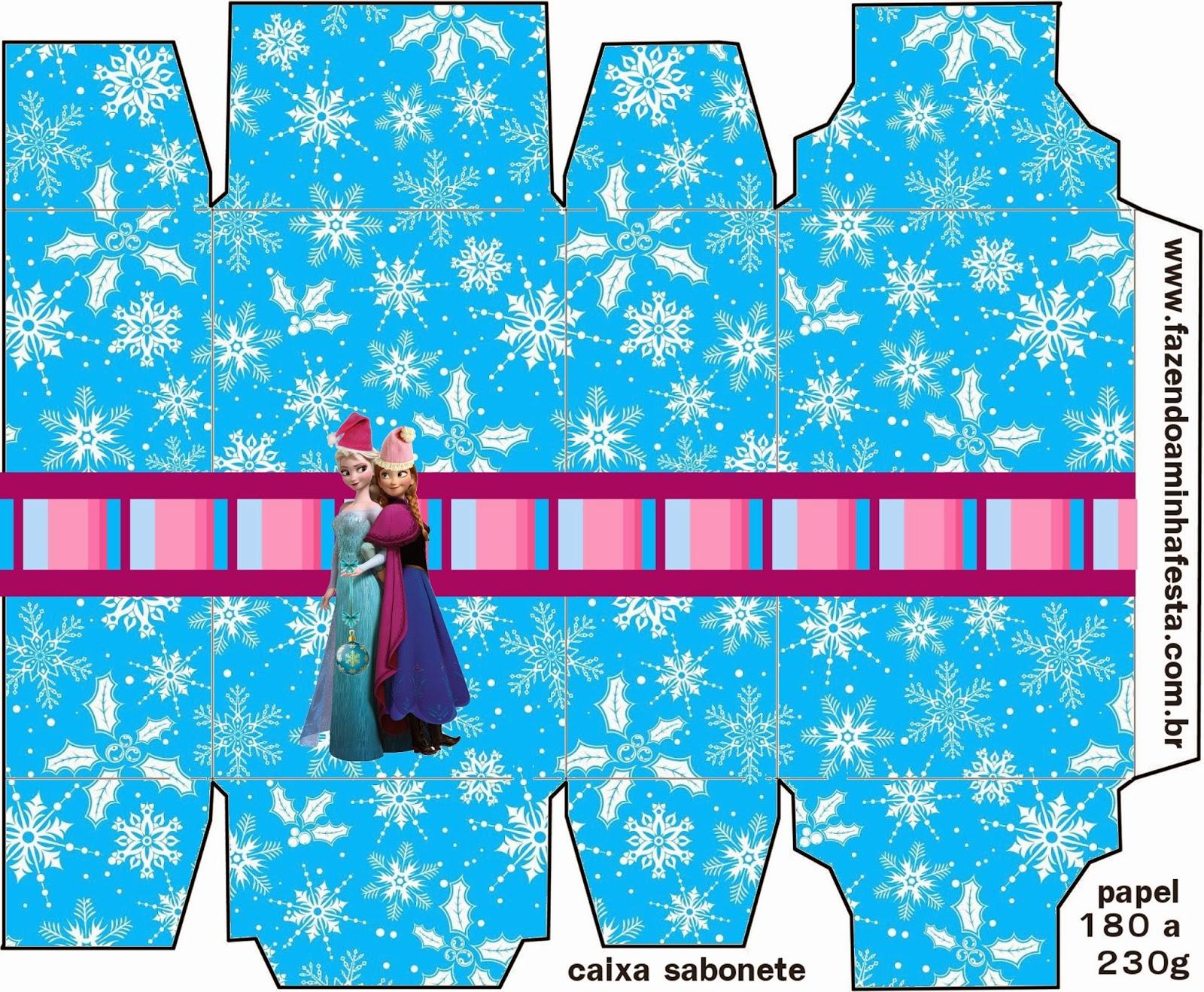 Cajas para imprimir gratis de Frozen para Navidad.