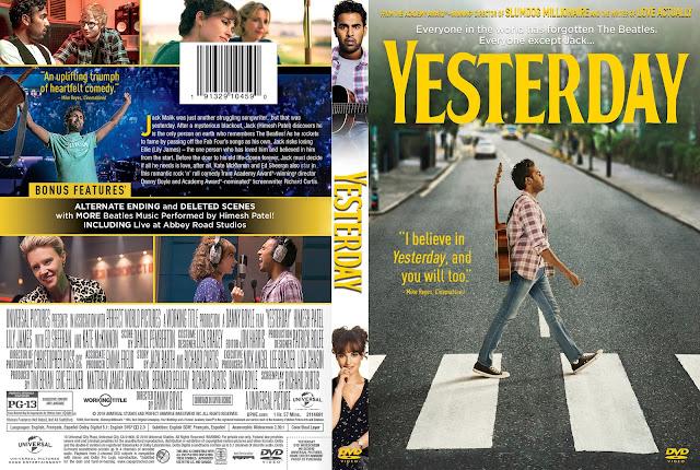 Yesterday DVD Cover