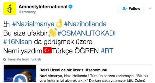 Twitter Amnistía Internacional hackeado