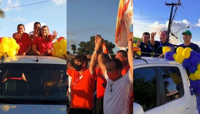 Final de semana foi marcado por carreatas dos candidatos Zé Mauro Chaves, Klaus Lima e Irmão Lailton