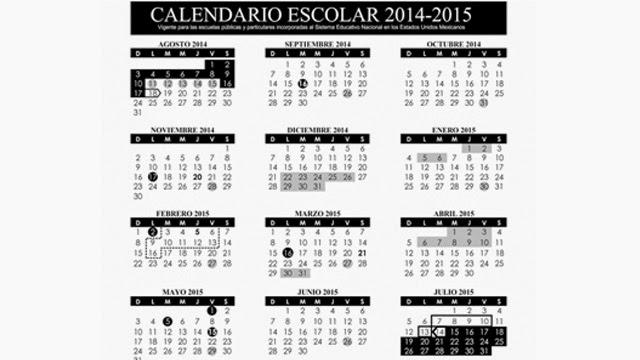 CALENDARIO ESCOLAR 2014-2015 ~ DEPARTAMENTO DE CIENCIA Y