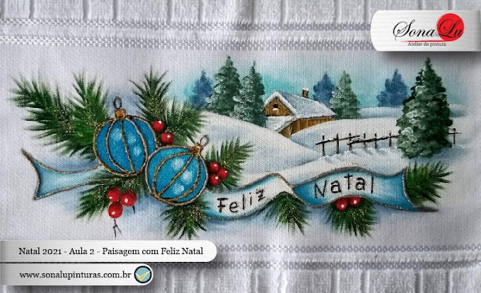 Natal 2021 - Aula 2 - Paisagem com Feliz Natal