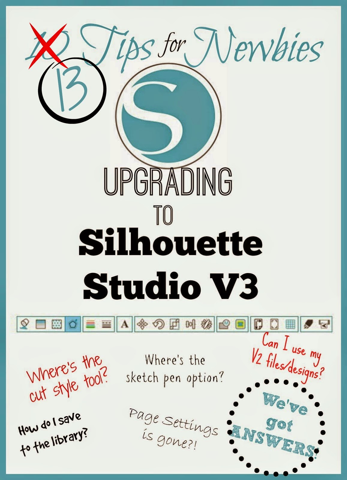 Silhouette Studio, V3, tips, newbies, new