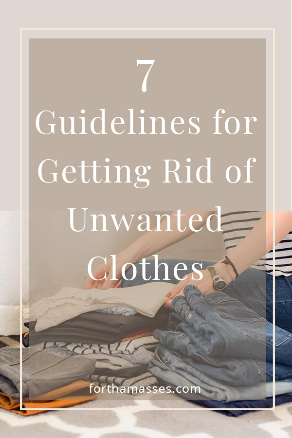 Figuring out what to do with unwanted clothing can be a bit puzzling but stay calm, we've got you covered! here is an easy guide to help you with the process