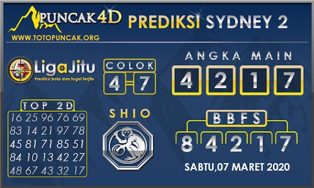 PREDIKSI TOGEL SYDNEY2 PUNCAK4D 07 MARET 2020