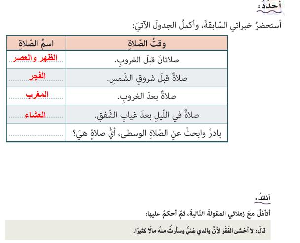 حل درس بشارة ومواساة للصف السابع