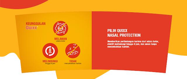 Keunggulan QUIXX Nasal Protection